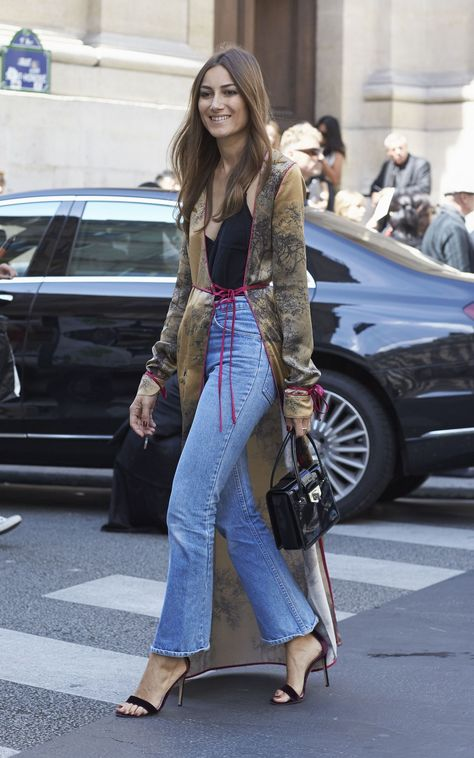The trend for pyjamas-as-daywear shows no sign of waning. Silk trenches, or jackets that moonlight as dressing gowns, are a brilliant way to add a louche element to your look, as shown by Giorgia Tordini