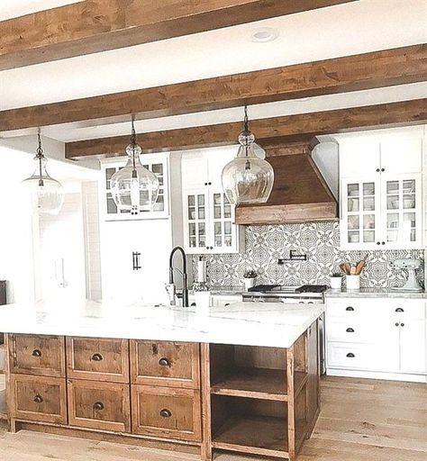 Cuisine Champêtre Moderne: Great Kitchen Decorating Ideas With Farmhouse Style For