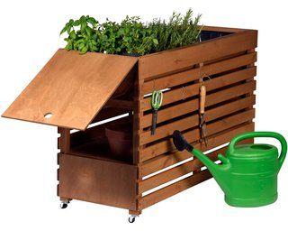 Dobar Doppel Hochbeet Rolling Garden Xl 71 Cm X 50 Cm X 100 Cm Bernstein Kaufen Bei Obi Hochbeet Blumenkasten Holz Pflanzkasten