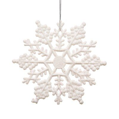 Mercury Row Glitter Snowflake Christmas Shaped Ornament White Christmas Ornaments Christmas Ornament Sets Glitter Christmas