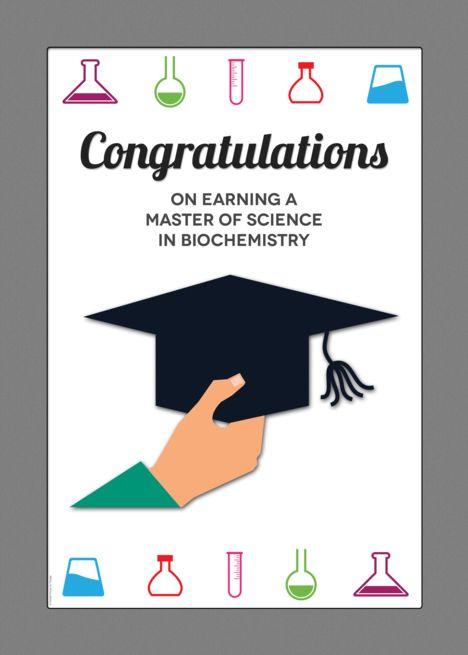 Master Of Science Ms In Biochemistry Graduation Congratulations Card Ad Sponsore Graduation Card Templates Congratulations Graduate Congratulations Card