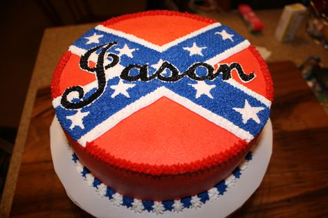 Confederate Flag for Groom's Cake