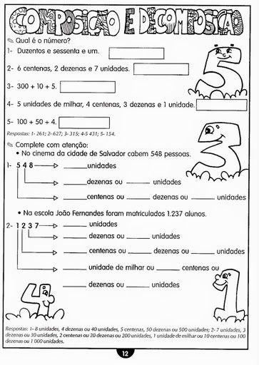 Companheiros Da Educacao Numeracao Decimal Unidades Dezenas