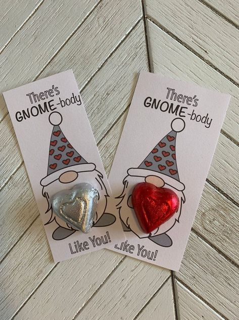Printable Valentine Card for kids, There's Gnome-body like you! digital download, Valentine Gift Tag