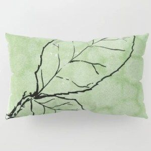 Two Leaves On Green Pillow Sham King Hanna Mccown Designs Green Pillows Pillows Pillow Shams