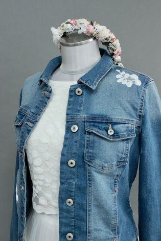 Brautkleid für jeans jacke Jacken für