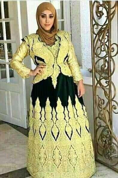 ڨندورة الفتلة العنابية ولاية عنابة الجزائرية اللباس التقليدي الجزائري التراث الجزائري الاصيل Long Sleeve Dress Traditional Dresses Fashion