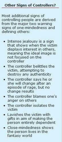 Signs of abusive men