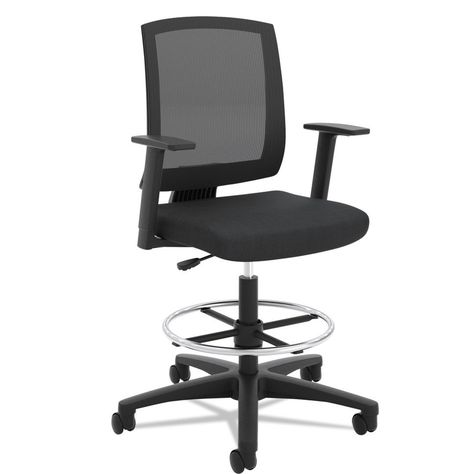 Black OFM 508-LX-T Synthetic Leather Adjustable Executive Chair with Arms