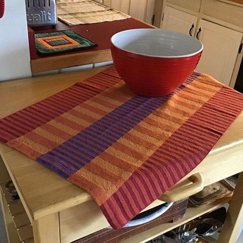 Handwoven Tea or Kitchen Towel Twill Tiles Light | Etsy