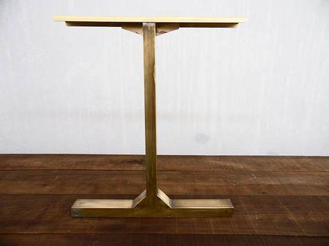Modern Vintage Custom Brass Table Legs 28 Besik Single Bar Table Legs Metal 24 Width Base Height 26 32 Set 2 Dining Table Legs Table Legs Metal Table Legs
