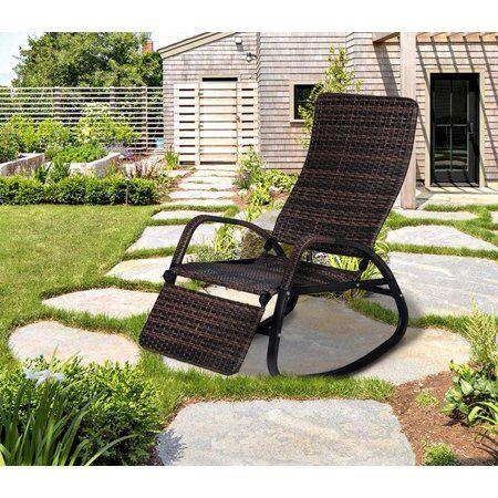 Patio Garden Rattan Rocking Chair Rocking Chair Outdoor Chairs