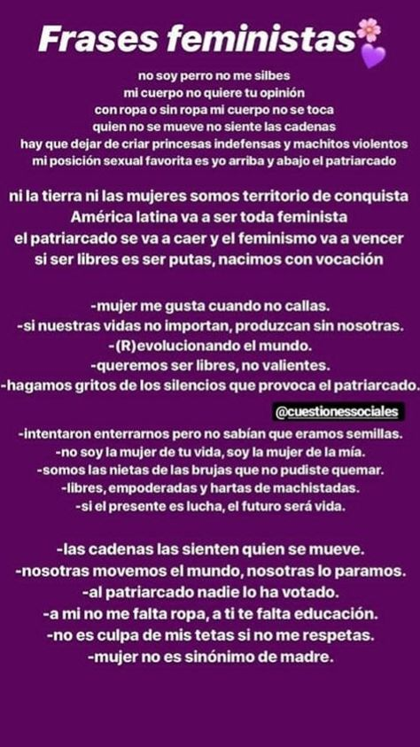 Frases Feministas Frases Feministas Feminista Feminismo