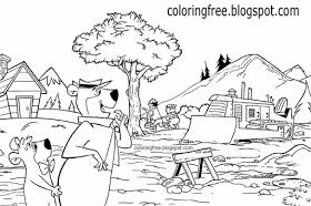 Free Coloring Pages Printable Pictures To Color Kids Drawing Ideas Yogi Bear Coloring Pages Us Campgroun Bear Coloring Pages Kids Cartoon Characters Yogi Bear