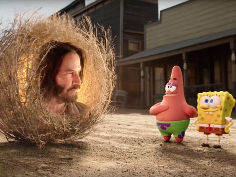 Keanu Reeves Is Basically Plant-God In The New SpongeBob Movie