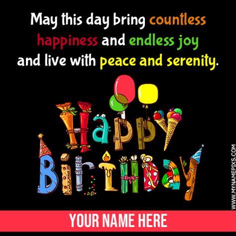 Write Name On Happy Birthday Wishes Whatsapp Status Pic Elegant Name Birthday Card Print Happy Birthday Wishes Birthday Card With Name Happy Birthday Beautiful