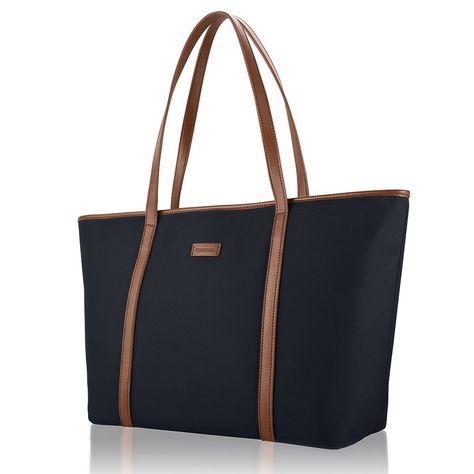 0841fdb1af1e Amazon.com  CHICECO Basic Large Travel Tote Shoulder Bag for Women - Blue…