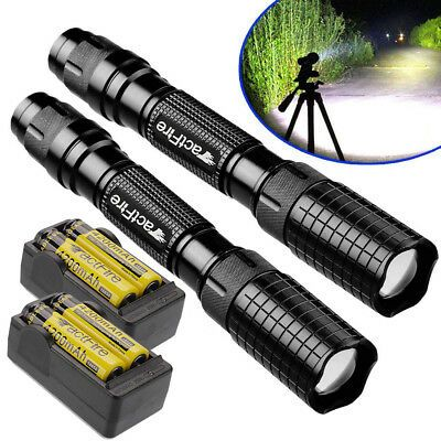 90000 20000 10000lumens Led Flashlight Torch Zoomable Outdoor Light Lamp Usa Ebay Lamp Light Led Flashlight Flashlight