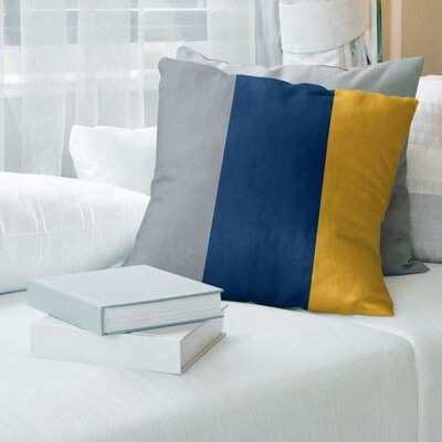 Buffalo David Bitton Hockey Striped Pillow Cover East Urban Home Color Navy Blue Gold Silver Size Football Throw Pillow Striped Floor Pillows Suede Pillows