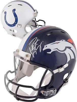 buy popular f3b29 0e187 Autographed Peyton Manning Broncos Helmet Fanatics Authentic ...