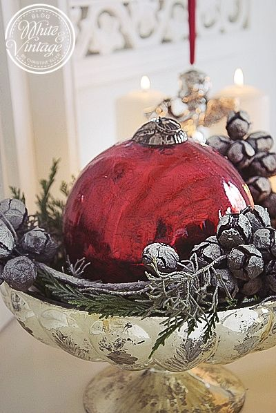 Weihnachtsdeko Silber Rot.Zauberhafte Weihnachten Weihnachtliche Dekoideen Xmas