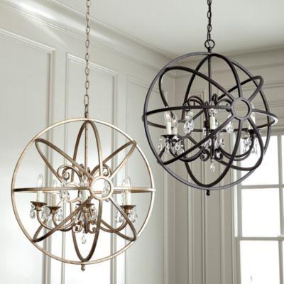 Nicolette Crystal Orb Chandelier Ballard Designs Orb