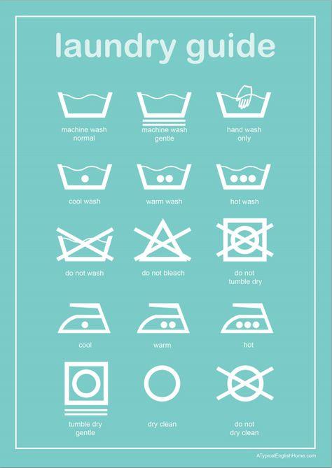 Imprime y enmarca esta guía de lavado para que así siempre sepas lo que los…