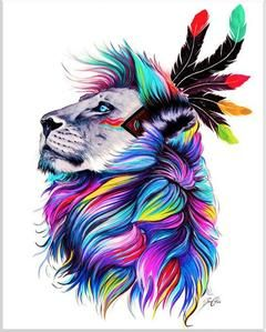 """Full Square/Round Drill 5D DIY Diamond Painting """"animal colorful paintings"""" 3D Embroidery"""