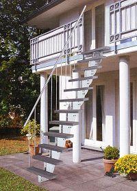 Treppenhaus einfamilienhaus außen  Außentreppe Stahl Gartentreppe Außen Treppen Garten | Balkon ...