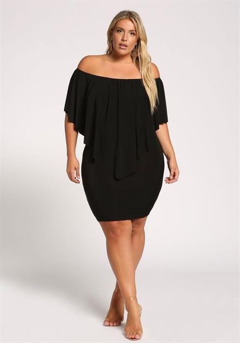 312efea891a Plus Size Pointed Layered Bodycon Dress