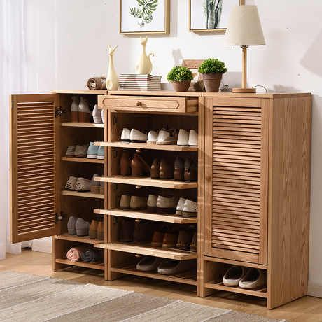 Shoe Cabinets Shoe Rack Home Furniture Solid Wood Shoes Organizers Chaussure Rangement Schoenen Rek Kast Organizer Shoe Storage Shoe Cabinets Aliexpress In 2021 Shoe Rack Living Room Wooden Shoe Storage Wooden