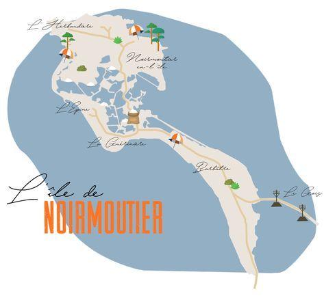 Carte De Noirmoutier V2 Le Carnet A Pois Ile De Noirmoutier