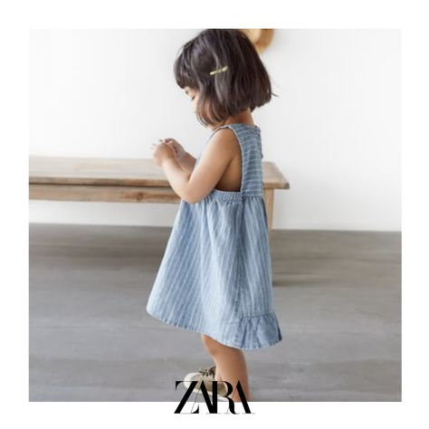 high quality reputation first value for money Striped denim dress | Products in 2019 | Zara girls dresses ...