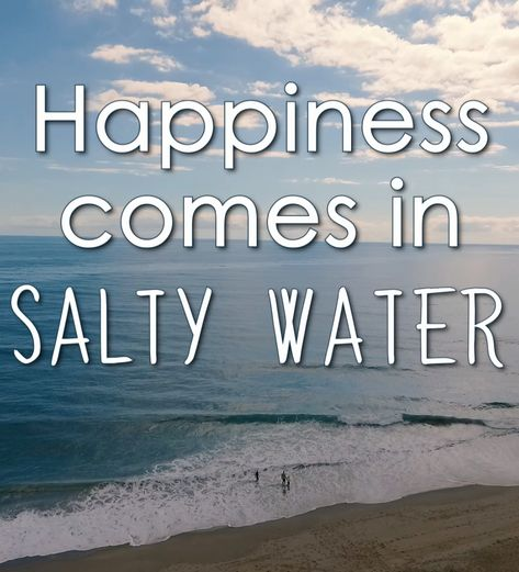 happiness comes in salty water <3 | #beachquote #sandbridge #virginiabeach5.3