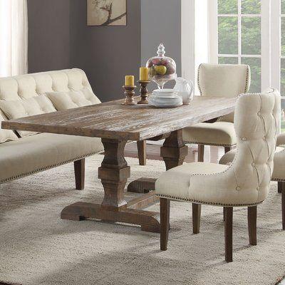 Gracie Oaks Loiselle Solid Wood Dining Table Wayfair Wood Dining Table Solid Wood Dining Table Dining Room Sets