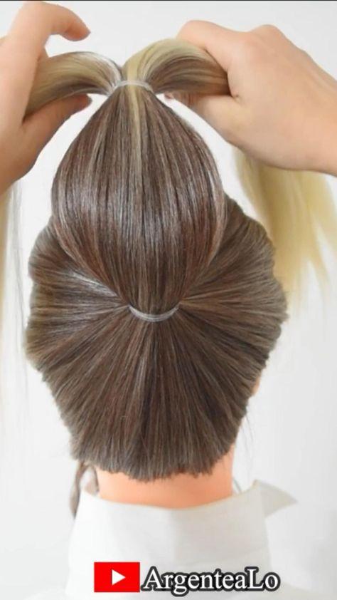 Super Easy Bun Hairstyle for long hair ❤️