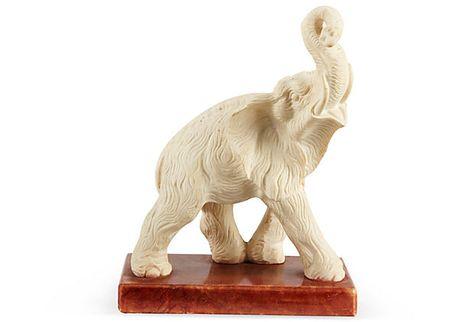 elephant on marble