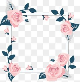 Pink Blossom Flower Qixi Festival Rose Poster Border Png And Vector With Transparent Background For Free Download Pink Rose Flower Rose Flower Women S Day Cards