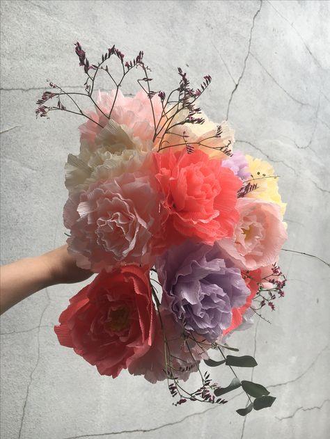 Paper Peony bouquet by Pom Pom Factory