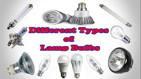 Diffe Types Of Lamp Bulbs