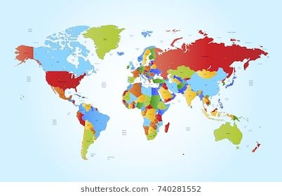 New Link Color World Map Detailed World Map Map Vector