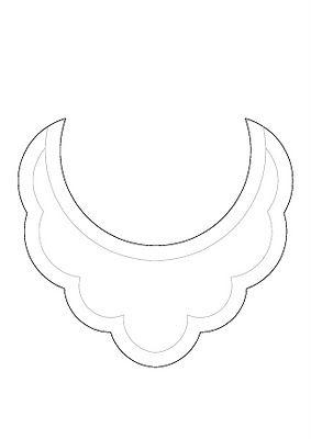 bib necklace templates printed Oct. 2013