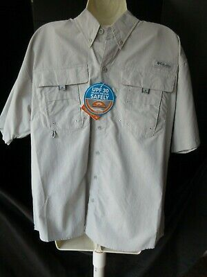 Men/'s Columbia PFG Bahama 2 UPF 30 Short Sleeve Shirt Fishing Vented NWT