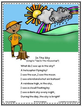 Day, Night, Sun, Moon, Shadows: Songs & Rhymes | day and ...