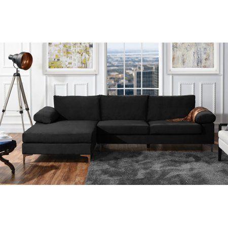 Modern Velvet Large Sectional Sofa Walmart Com Fabric Sectional Sofas Large Sectional Sofa Sectional Sofa