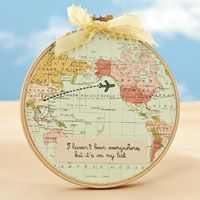 my list hoop by katie murphy gehring 1 cut circle from patterned paper travel craftsmap