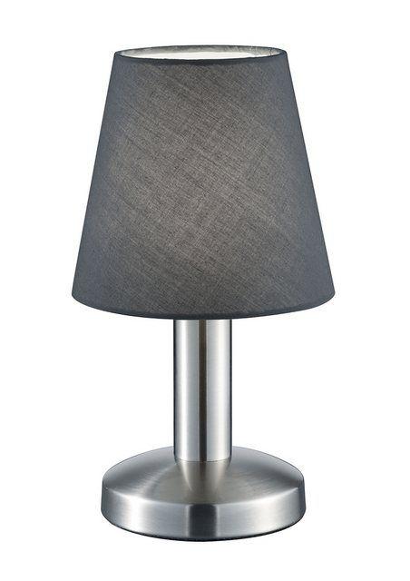 Glas Trio-Leuchten Nickel LED-Tischlampe mit Touchfunktion Ein//Aus