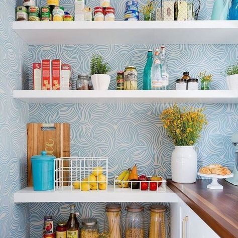 Ever consider wallpapering your pantry? Take cues from ...