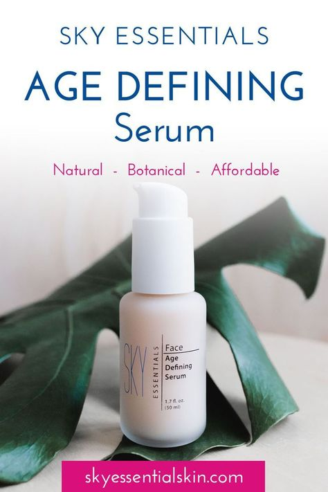 SKY Essentials Age Defining Face Serum minimizes fine lines, wrinkles and enlarged pores. The combination of white tea, sea whip, Kole, Mate and Guarana soothe and calm the skin and reduce signs of irritation.  AHA (alpha-hydroxy acid) helps reduce the si