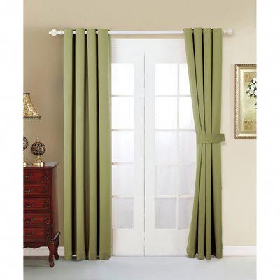 Wrought Studio Bingaman Solid Blackout Grommet Curtain Panels